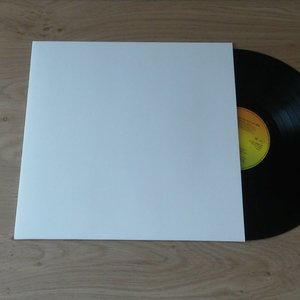 Cardboard LP cover white without centre hole - 10 pieces