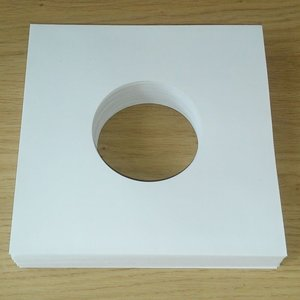 "White Paper Sleeves (High Quality) for 7"" Vinylsingles - 100 pieces"
