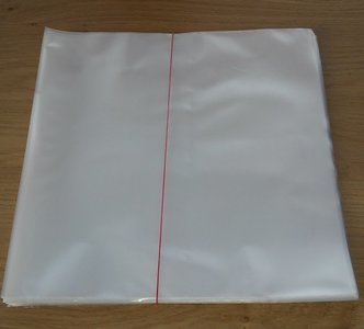 "Plastic Outersleeves for 12"" Vinyl LP's (80my) - 50 pieces"