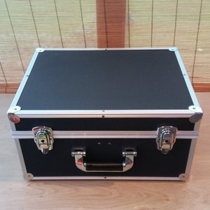Vinylsingle Flightcase Black (2 rows) New
