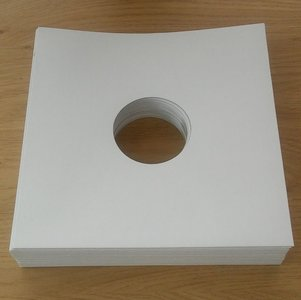 """White Cardboard Sleeves for 10"""" Vinyl / 78RPM Records - 25 pieces"""